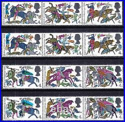 1966 BATTLE OF HASTINGS 4d VALUES (COLOUR SHIFT) VARIETY UNMOUNTED MINT