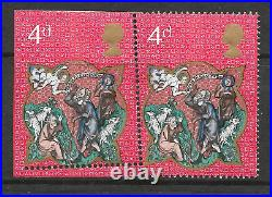 1970 sg 838 Variety 4d Xmas with misperf causing imperforate UNMOUNTED MINT