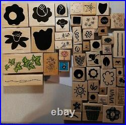 250 pc Lot Rubber Stamp and Assorted Paper Punch