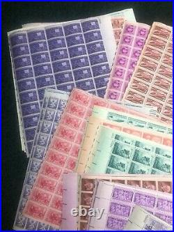 $500 Face Value 3 Cent Commemorative Sheets Mint Nice Assortment Never Hinged