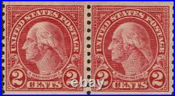 #599A PAIR 1929 2c TYPE II ROTARY PRESS COIL-MINT-OG/NEVER HINGED-RARE VARIETY