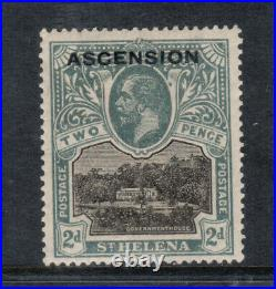 Ascension #4 (SG #4b) Very Fine Mint Blot On Scroll Plate Variety Hinged