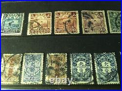 CHINA STAMPS x 40+ ASSORTED OLD ISSUES, SOME MINT, 19 COILING DRAGON 1902 ISSU