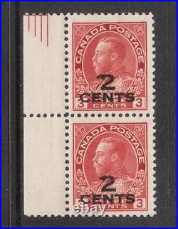 Canada #139iii VF Mint Pair With Double 2 Variety