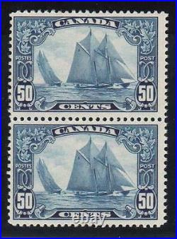 Canada #158iii NH Mint Man On Mast Variety Pair With Certificate