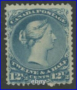 Canada 1868 Large Queen 12 1/2c milky blue colour variety #28i Mint -VGG CERT
