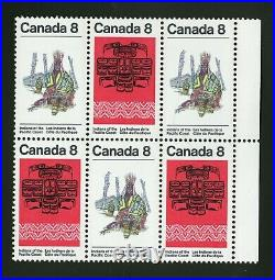 Canada 1974 Unitrade # 572ii Mint Never Hinged Block with Variety