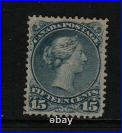 Canada #30v Extra Fine Mint Unused (No Gum) Cracked Plate Variety With Cert