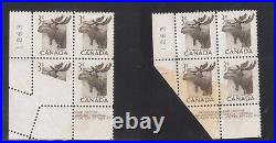 Canada #323 Mint Major Pre Print Paper Fold Variety Large Area Printed On Gum