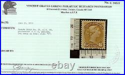 Canada #39 Mint Reentry Variety With Certificate