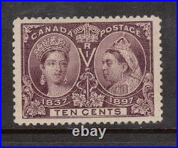 Canada #57 Extra Fine Mint Lightly hinged Gem With Hairlines Variety Certificate