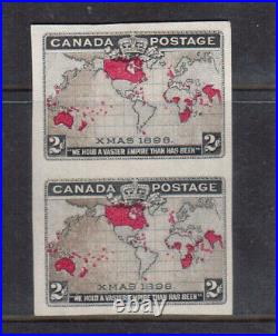 Canada #85a Extra Fine Mint Imperf Pair Muddy Waters Variety