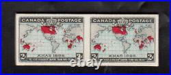 Canada #86a Variety Extra Fine Mint Imperf Pair On Very Thick Original Card