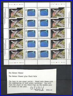 Canada CANADA IN SPACE RARE TRIPLE VARIETY SCOTT 1441/2 VF MINT NH (BS16650)