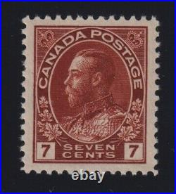 Canada Sc #114iv (1920s) 7c Admiral DIAGONAL LINE in V VARIETY Mint VF NH