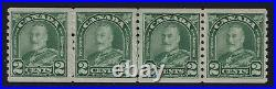 Canada Sc #180iii (1930) 2c Arch Coil Strip withCockeyed King Variety Mint VF NH