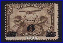 Canada Sc #C3b (1932) 6c on 5c Airmail DOUBLE SURCHARGE Variety Mint H