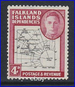 F. I. DEPS 1946 4d WITH'SOUTH POKE' VARIETY SG G5c MINT