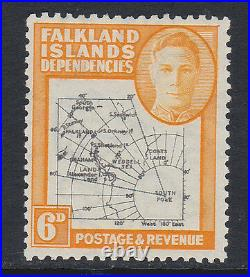 F. I. DEPS 1946 6d WITH'SOUTH POKE' VARIETY SG G6c MINT