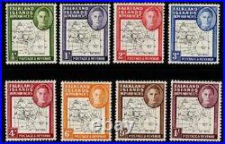 FALKLAND IS. DEP. SGG9b/16a 1948 THIN MAPS WITH DOT ON T VARIETY MTD MINT