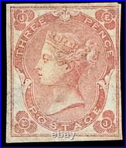 GB QV SG78a 3d Rose Plate 3 EJ White Dots Abnormal Variety Mint Very Scarce