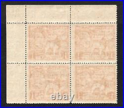 GV 1924 Empire Exhibition 1d block x 4 with tail to N variety. Unmounted mint