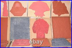 Huge Lot of 195 Assorted Wood Mounted Rubber Stamps 75+ New Jumbo Flower Nature