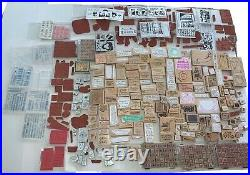 Huge Mixed Assorted Lot Of Over 500 Rubber Stamps Wooden Religous, Rare, Unique