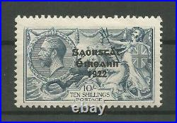 Ireland 1922 Sg85 77 10s Seahorse Variety Retouch to 10 T68ce Mint CV$900.00