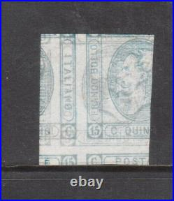 Italy #23 Very Fine Mint Printed On Both Sides Variety With Certificate