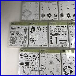 Lot of 206 Stampin Up! Assorted Clear Unmounted Stamps New in Box Unused