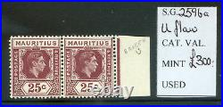 Mauritius 1938 Definitives 25c'Uflaw' variety mint n. H. (2021/02/02#01)