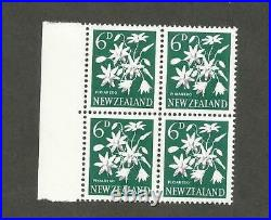 New Zealand 340 missing color variety mint nh block of 4