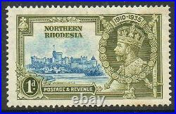 Northern Rhodesia 1935 Jubilee 1d SG18g dot to left of chapel variety mint stamp