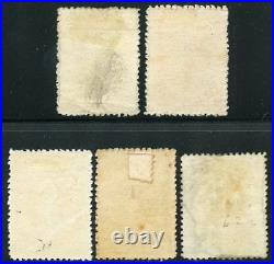 Queensland Scott#79/83 Mint Hinged Thick Paper Variety