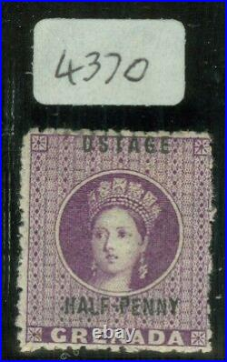 SG 21c Grenada 1881. ½d deep mauve with variety ostage. Fine mounted mint. BPA