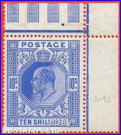 SG. 319. Variety M54 (3). 10/- Deep Blue. A very fine UNMOUNTED MINT top B39161