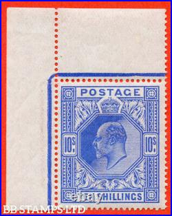SG. 319 variety M54 (3). 10/- Deep Blue. A very fine UNMOUNTED MINT top l B52889