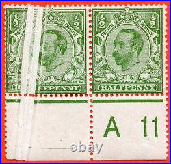 SG. 325. Variety N2 (2). ½d pale bright green Die 1B. A very fine UNMOUNTED MINT