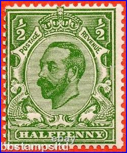 SG. 335 variety N3 (UNLISTED) f. ½d YELLOW green. A very fine UNMOUNTED MINT
