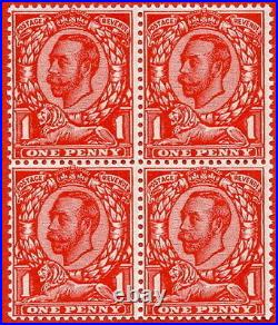 SG. 341 Variety N11(4). 1d Very Deep Bright Scarlet. A superb UNMOUNTED MINT