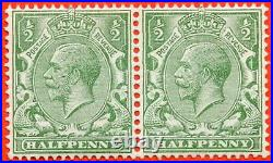 SG. 353 variety N14 (4). 1/2d very pale green. A very fine UNMOUNTED MINT
