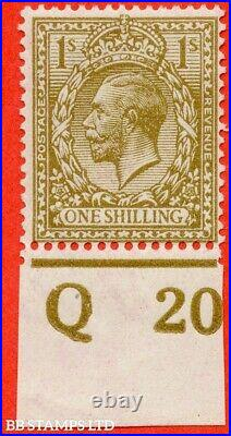 SG. 396 variety N32 (11). 1/- Yellow Brown. A superb UNMOUNTED MINT botto B39906