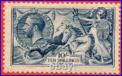 SG. 417 variety N71 (1). 10/- Dull blue. A fine very lightly mounted mint