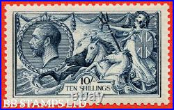 SG. 417 variety N71 (3). 10/- Steel Blue. A superb UNMOUNTED MINT example B56865