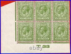 SG. 427. Variety N43 (4). 9d olive yellow green. A very fine mint control