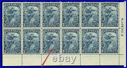 Scarface Variety block of 12 MNH plate Cat $600+ block Canada mint