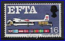 Sg 716pd 1966 EFTA 1/6 with variety blue-grey omitted UNMOUNTED MINT