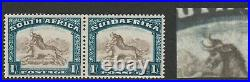 South Africa 1930-44 1/- with Twisted horn variety SG 48cw Mint