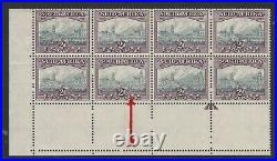 South Africa 1933-48 2d Grey & dull purple with variety R 20/2 SG 58a Mint